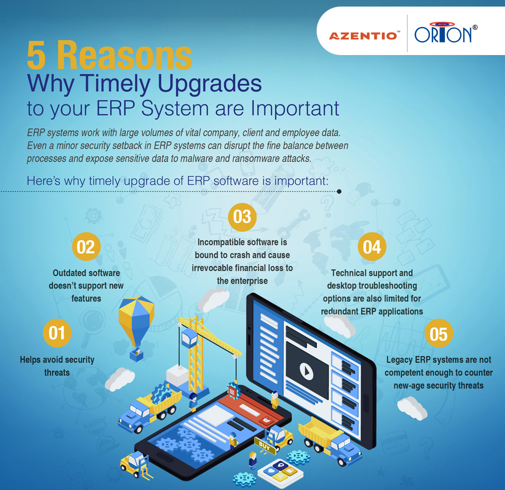 5 Reasons Why Timely Upgrades to your ERP System are important