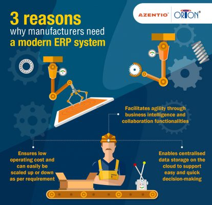 3 reasons why manufacturers need a modern ERP system