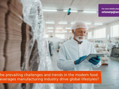 How the prevailing challenges and trends in the modern food and beverages manufacturing industry drive global lifestyles?