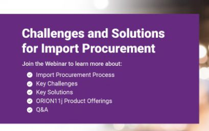 """<b style=""""color:#d95214;"""">Challenges and solutions for Import Procurement</b>"""